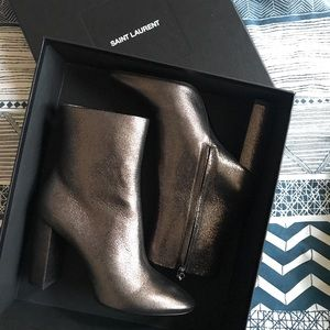 YSL Leather Lou Booties